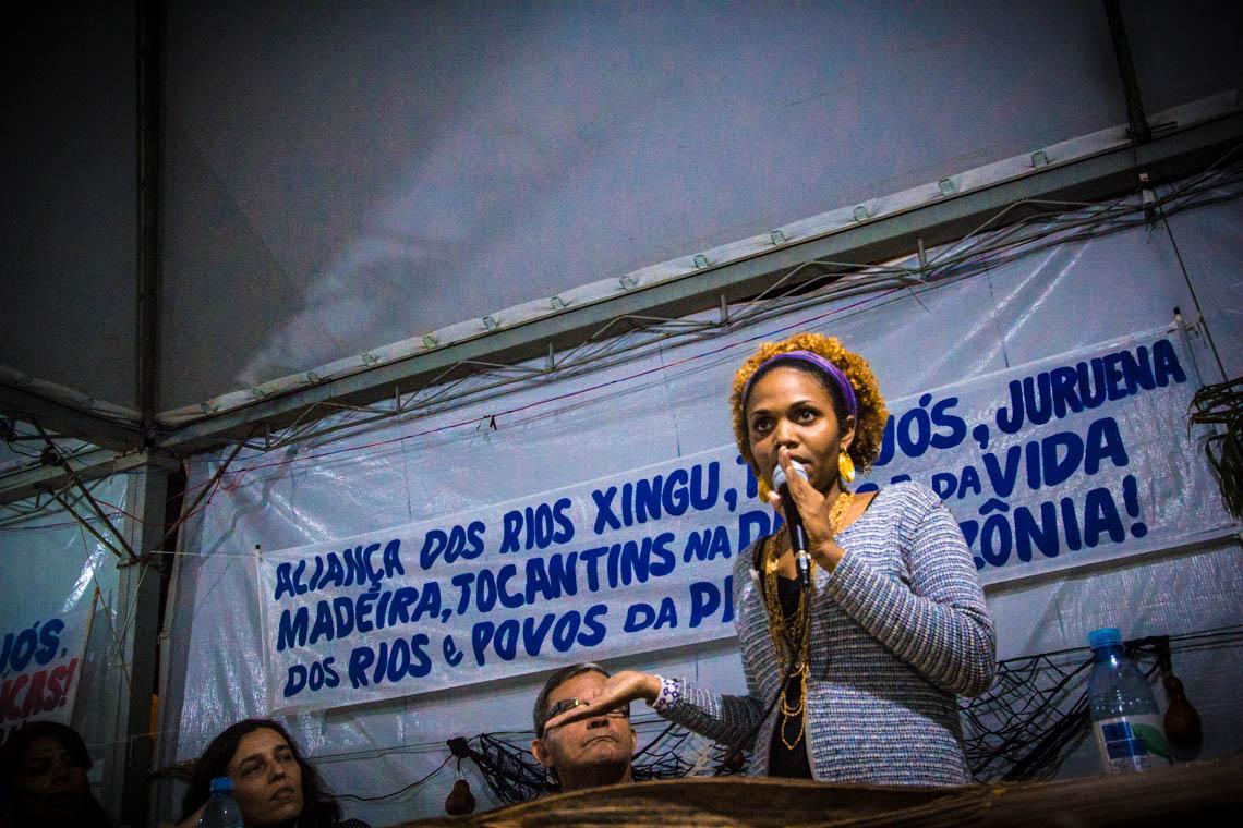 Daniela Silva do Movimento Xingu Vivo para Sempre. Foto: João Miranda/Revista VaiDáPé
